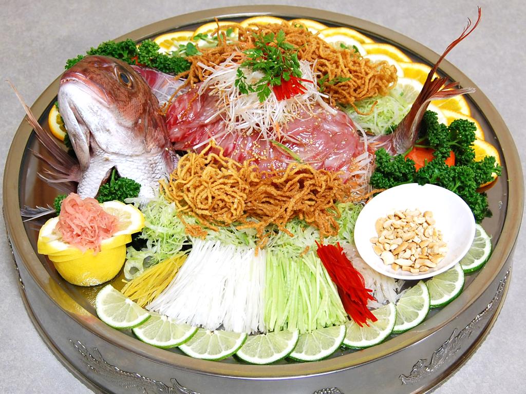 鮮魚の中華風刺身(鏡盆) -